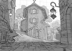 Village street study 2 by MicahJGunnell