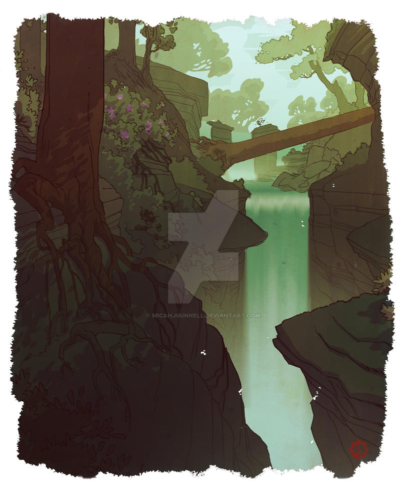 Forest Scene by MicahJGunnell