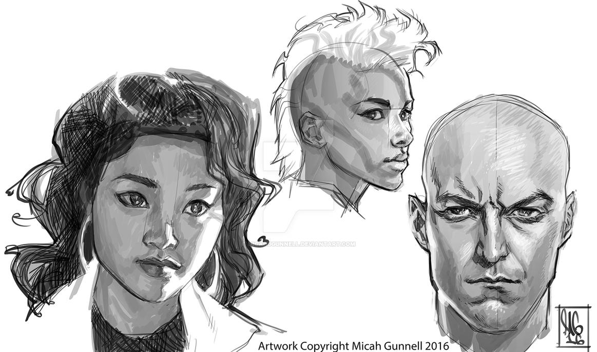 X-men Studies by MicahJGunnell