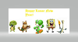 Happy Lunar New Year from Yoshi and Friends
