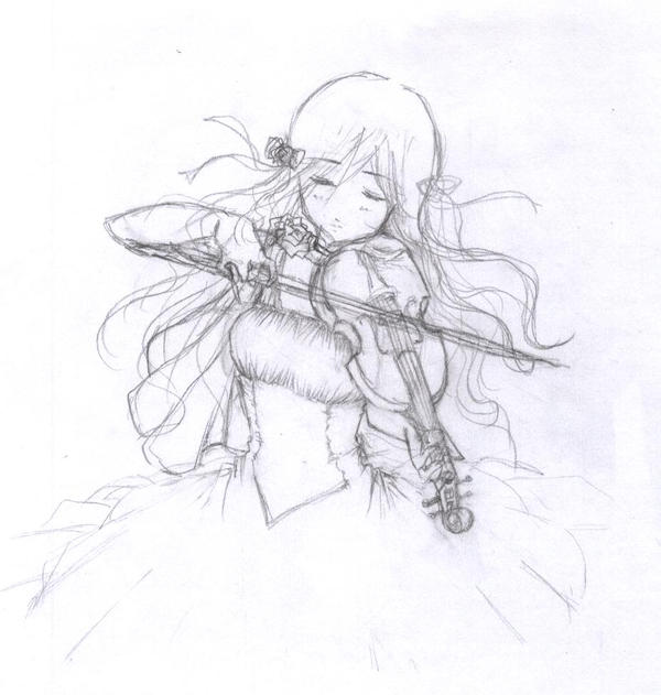 I wanted to draw a violin by Sinussa on DeviantArt