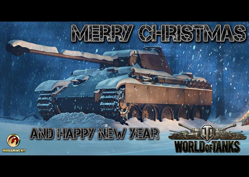 World of Tanks X-Mass Postcard by pxk21