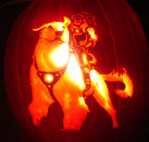 Naga and Korra Pumpkin