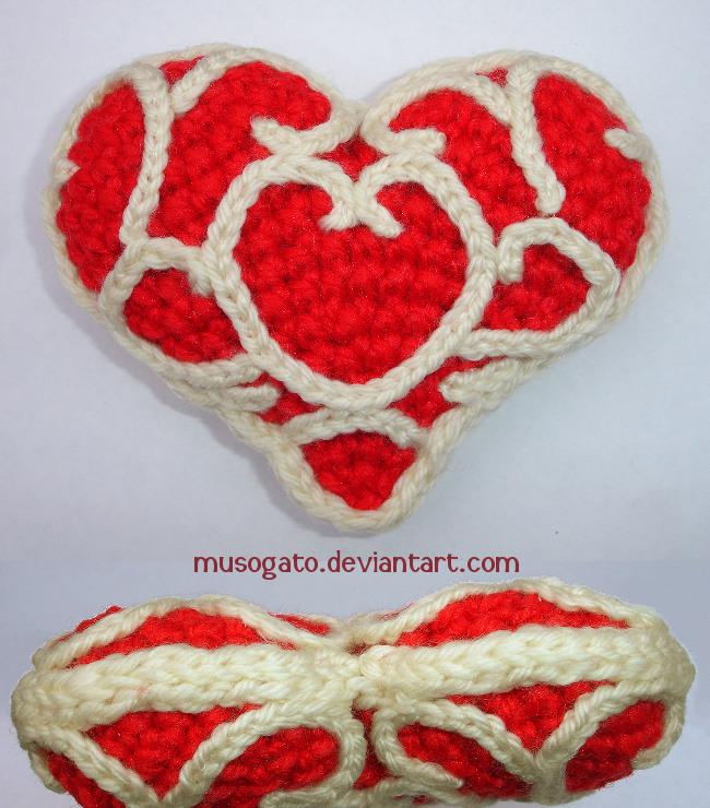 Crochet Pattern Amigurumi Turtle Crochet Keychain : Zelda Heart Amigurumi by musogato on DeviantArt