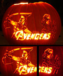 Avengers Pumpkin - Master Assassins by musogato