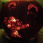 Huntin' Metroids Pumpkin by musogato
