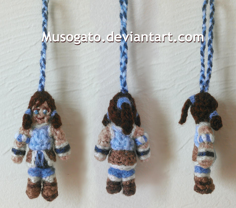 Korra Crochet Keychain (2015) by musogato