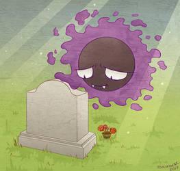 Graveyard Gastly by musogato
