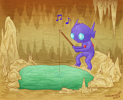 Cave-fishing Sableye by musogato