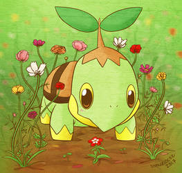 Flower garden Turtwig by musogato