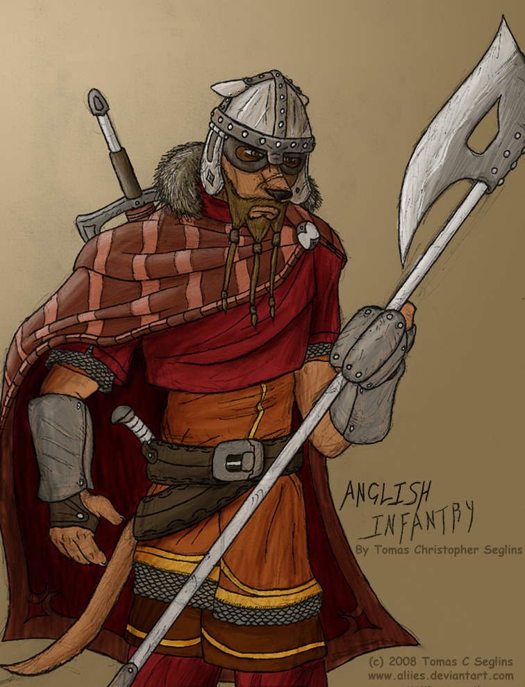 Anglish Infantryman by Aliies