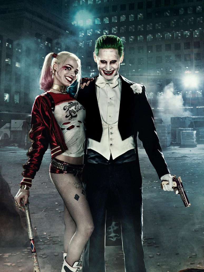 Harley 'N Joker (Suicide Squad) by DarkHawk41