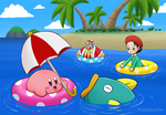 Hot day (Kirby and Friends)