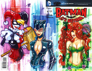 Harley Quinn, Cat Woman and Poison Ivy