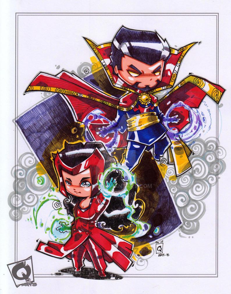 Doctor Strange Scarlet Witch by Dve6