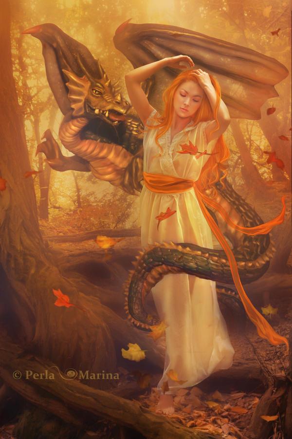 Autumn Dragon by PerlaMarina