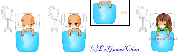 {Fantage C2U base} Laying in the Hospital Bed by ExGamerChan