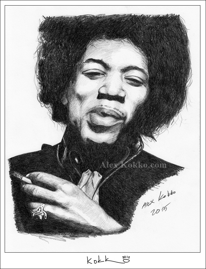 Jimi Hendrix by donalbain