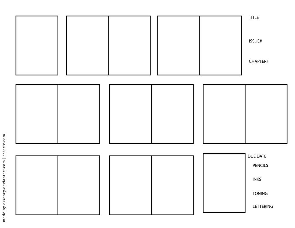 Comic Book Character Design Template : Thumbnail template by essency on deviantart