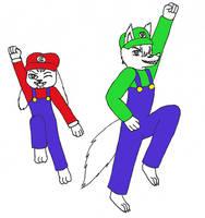 The Super Woo Bros by Koraru-san