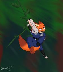 Scared fox, reckless bunny by Koraru-san