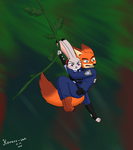 Scared fox, reckless bunny