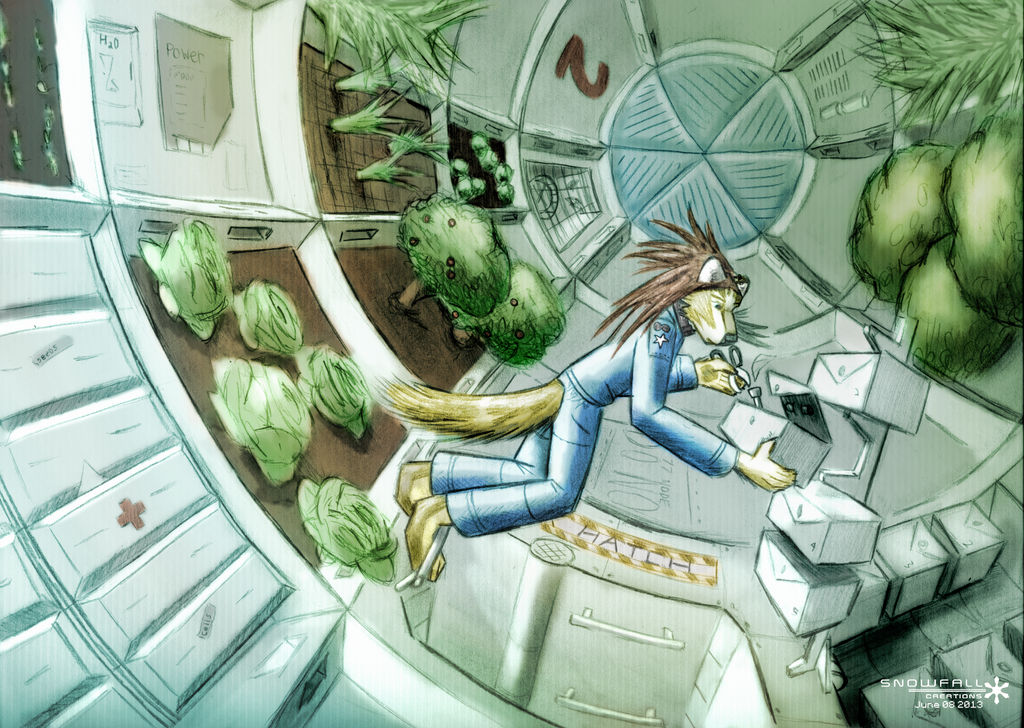 Zero gravity Space Greenhouse by Snowfall-The-Cat on DeviantArt