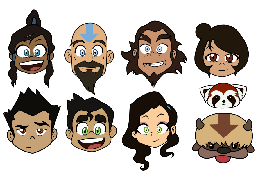 Legend of korra character heads by spectacularana on deviantart legend of korra character heads by spectacularana voltagebd Images