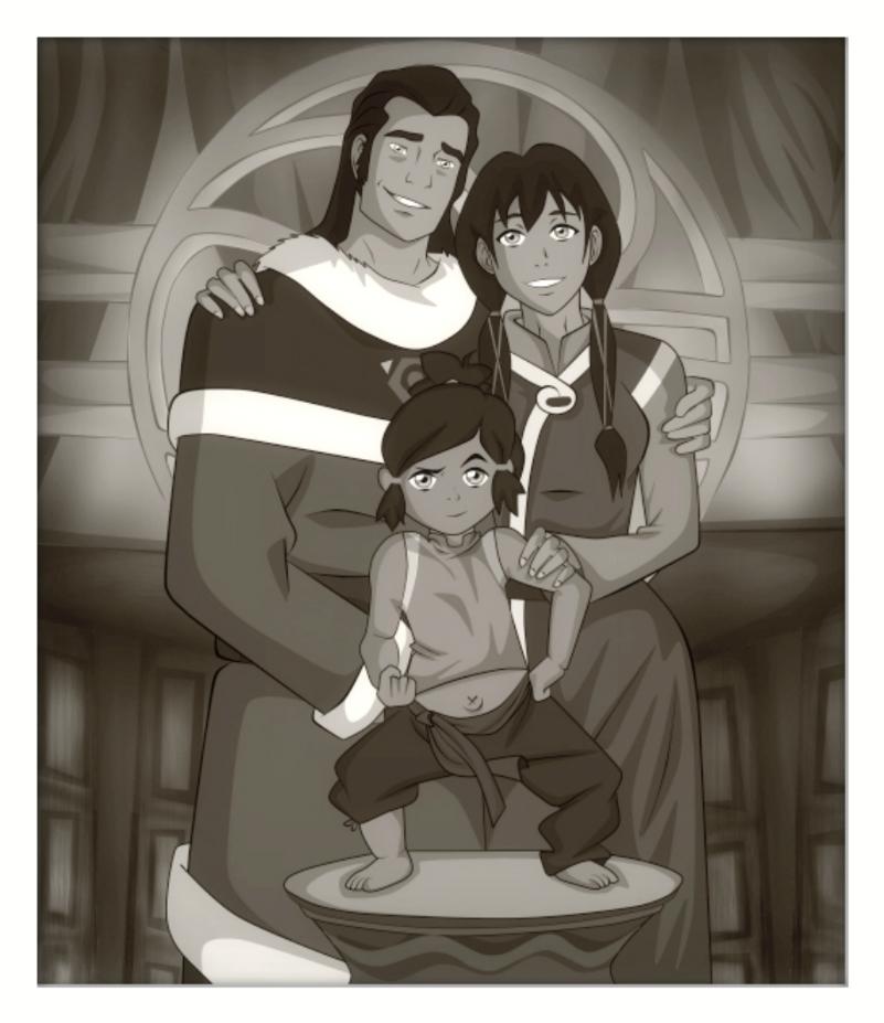 کورا و پدر و مادرش