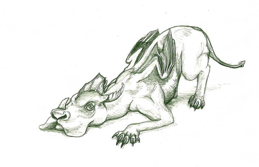 Line Art Dragon : Dog dragon by sasharita on deviantart