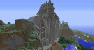 Minecraft 'Puerto de Corazon' Cathedral: Front by Sherio88