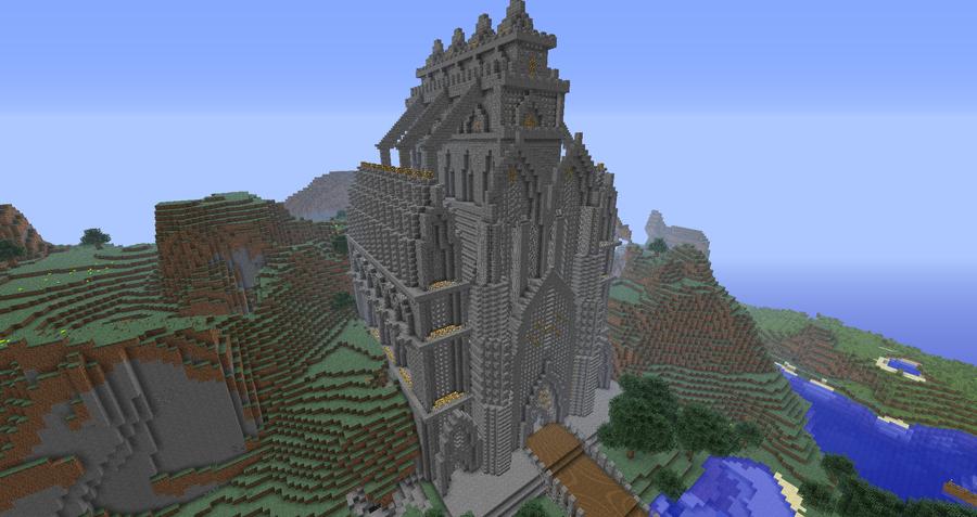 Minecraft Puerto De Corazon Cathedral Front By