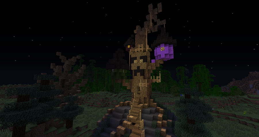 Minecraft: Halloween Town Boogie's treehouse by Sherio88 on DeviantArt