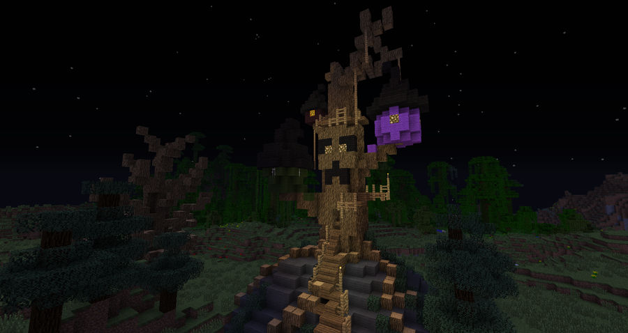Minecraft: Halloween Town Boogie's treehouse by Sherio88