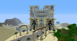 Minecraft:  Fesh'knet palace front view by Sherio88