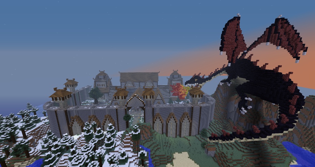 Minecraft Dragon Attack Panorama By Sherio88 On DeviantArt