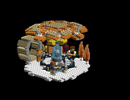 Lego Tardis inside 1.1