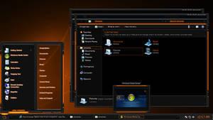 Tech-Light-GOLD Windows 7 Theme