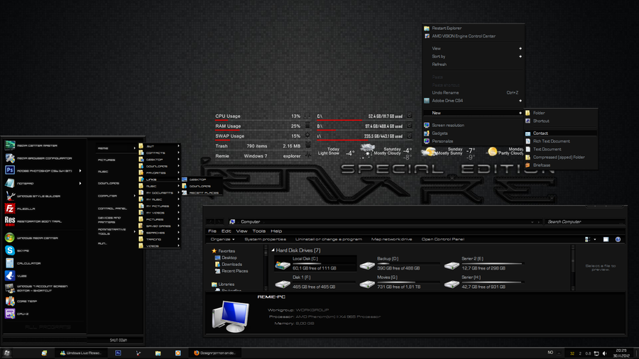 alienware themes for windows 7 32bit free