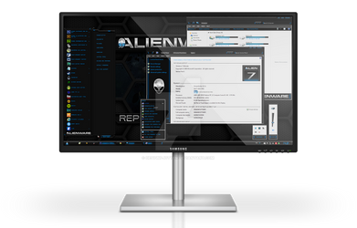 Alienware HQ BLUE Windows 7 Theme