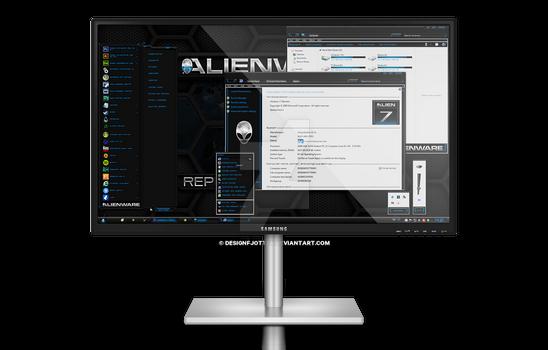 Alienware HQ BLUE Windows 7 Theme