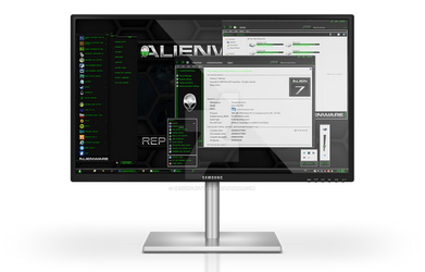 Alienware HQ GREEN Windows 7 Theme