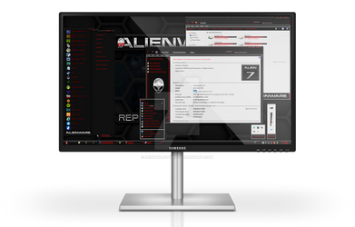 Alienware HQ RED Windows 7 Theme
