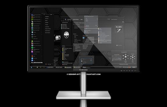 Alienware HQ DARK Windows 7 Theme