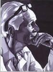 The Thinker- black and white by HuntressGuya