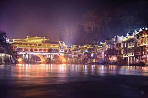 Lights along the river by romainjl