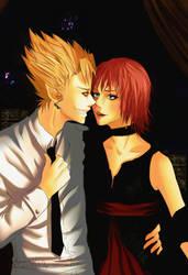 Hiruma and Mamori by irenukia