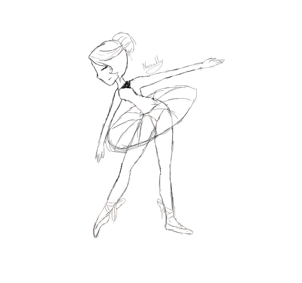 how to draw a ballerina
