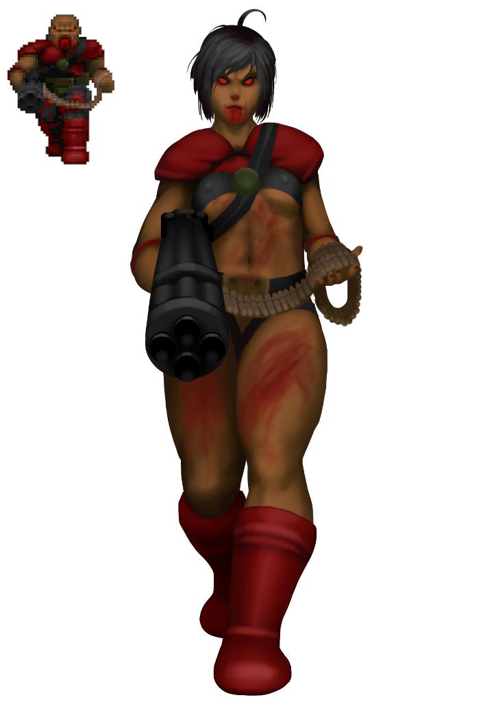 Zdoom View Topic Female Chaingunner Concept