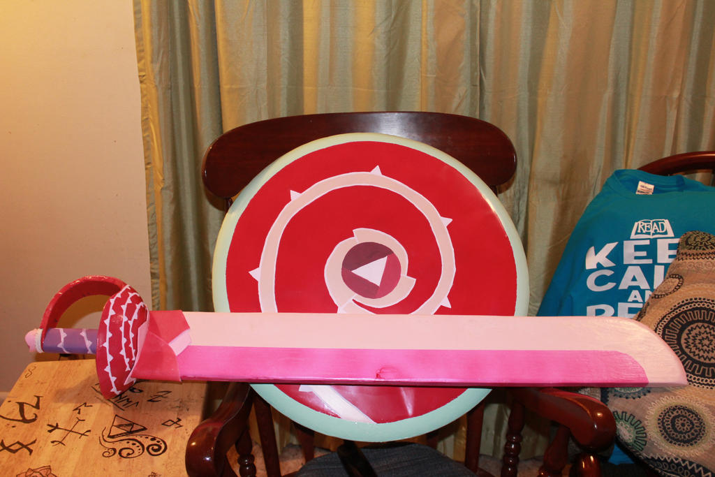 Rose Quartz's Sword And Shield (cosplay) By Little-Mad